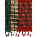 Off-White Silk Cotton Woven Design Kanjeevaram Saree