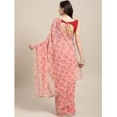 Tikhi Imli Pink Printed Saree